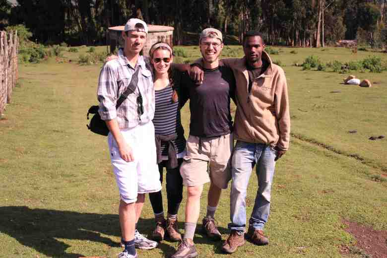 Here I am with clients in before a 5 day trek in Bale Mountains